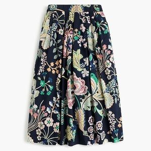 J. Crew Cotton Skirt in Liberty Floral 0